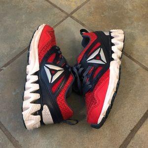 Reebok zigtech red tennis shoes size 13